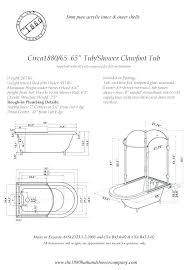 clawfoot tub dimensions. Clawfoot Tub Dimensions Oasis Standard Width Z