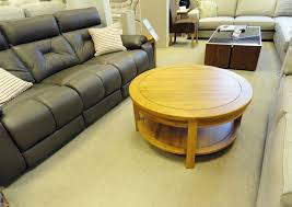 oxford round oak coffee table