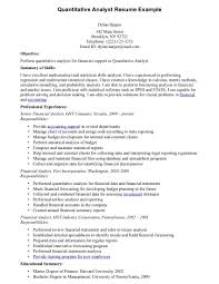 Quantitative Analyst Sample Resume Quantitative Analyst Sample Resume shalomhouseus 1