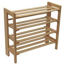 shoe organizer furniture. Winsome Wood Foldable 4-Tier Shoe Rack, Natural Organizer Furniture