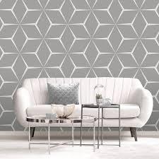 belgravia decor geometric grey silver