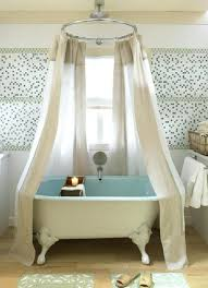 clawfoot tub shower curtain rod marvelous curtains for