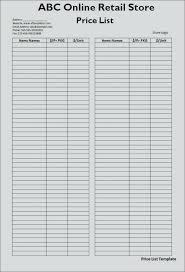 Microsoft Word Price List Photography Price List Gallery Template Teran Co
