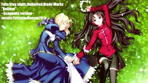 fate stay night unlimited blade works ending song yorozuya believe kalafina fate stay night unlimited blade