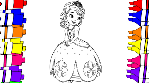Sofia Coloring Pages How To Color Sofia The First Disney Junior