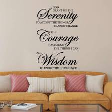 Inspirational Quotes Wall Stickers Home Decor Living Room Serenity Courage Wisdom Wall Art Sayings Decal Murals Bedroom Z872