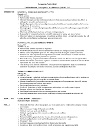 Telesales Representative Sample Resume Telesales Representative Resume Samples Velvet Jobs 10