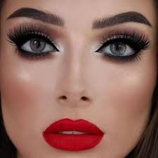 gorgeous jessicarose makeup wearing our newest 3d triple stacked faux maroon dress makeupbridal makeup red