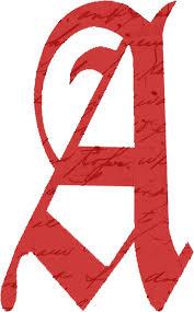 43d946dd d f7812b3e4 scarlet letter a script by pagepensive redbubble scarlet letter clipart 621 1000