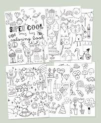 Small Picture Printable Mini Coloring Book The Tiny Totem blog