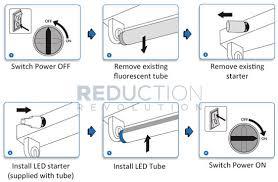 led tube installation guide change fluorescent light l38