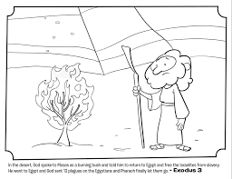Moses And The Burning Bush Bible Coloring Pages Whats In The Bible