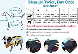 Vivaglory Size Chart Vivaglory Dog Life Jackets With Extra Padding Pet Safety Vest For Dogs Lifesaver Preserver