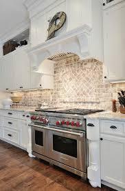 Backsplashes For Kitchens With Granite Countertops Interesting Kitchen Brick Backsplash Kitchen With Granite Countertop And Brick