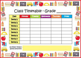 Class Timetable School Timetable Freebie By My Adorable