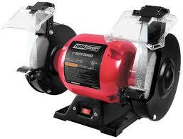 grinder tool. tool shop® 2.1-amp corded bench grinder with led work lights at menards®
