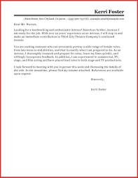 Luxury Acting Cover Letter Template Npfg Online