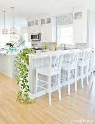 Kitchen decorating ideas Farmhouse Coastal Kitchen Spring Decorating Ideas Sand And Sisal Coastal Kitchen Decorating Ideas For Spring Sand And Sisal