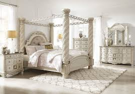 cassimore pearl silver 10 pc dresser mirror chest king uph poster canopy bed 2 nightstands