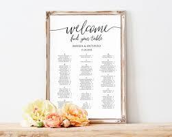 Wedding Alphabetical Seating Chart Alphabetical Seating Chart Seating Plan Template Wedding
