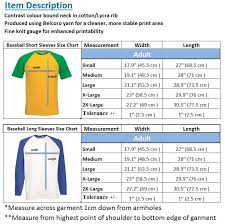 Details About Fruit Of The Loom Mens T Shirt Long Sleeve Baseball Sports Contrast Short Sleeve