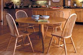 round table stickback chairs