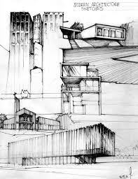 modern architecture blueprints. Perfect Modern Architecture Drawings Good Use Of Tone And Texture Pen On Paper Black  White On Modern Architecture Blueprints