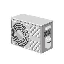 きれいなエアコン室外機のイラスト エコのモト