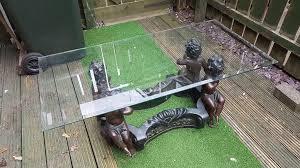 vintage cherub coffee table