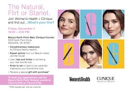e meet me at clinique with women s health magazine