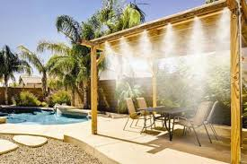 Outdoor Misting Systems  Luxury PoolsBackyard Misting Systems