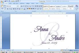How To Make Wedding Invitations On Microsoft Word 4 Naples My Love