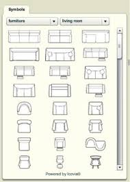 furniture for floor plans. furniture floor plan vector for plans l
