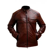 motorcycle cafe racer brown distressed leather jacket distressed jackets