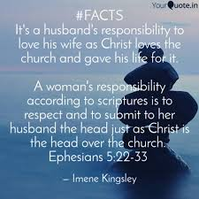 Husband Quotes Mesmerizing FACTS It's A Husband's R Quotes Writings By Imene Kingsley