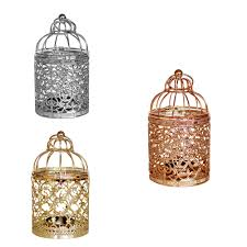 Tea Light Birdcage Us 3 84 30 Off Details About Birdcage Tea Light Candle Holder Candlestick Hanging Lantern B Rose Gold In Candle Holders From Home Garden On