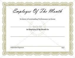 Award Certificate Template Free Best Employee Award Certificate Templates Yakult Co