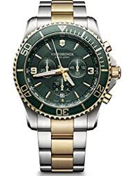 amazon co uk victorinox swiss made watches victorinox swiss army men s quartz watch chronograph display and stainless steel strap 241693