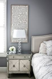 Mirrored Night Stands Bedroom Easy Idea Framed Fabric Panels For Bedside Walls Mirrored
