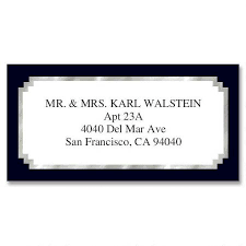 silver address label black silver foil border return address labels colorful images