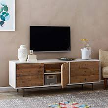 Reclaimed Wood + Lacquer Media Console (70