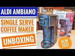 Don't settle for inferior instant coffee at home again when you grab this ambiano coffee capsule machine. Aldi Ambiano Single Serve K Cup Coffee Maker Cm 202 Unboxing And Setup First Use Youtube