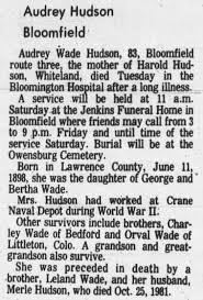 Obituary of Audrey Hudson - Newspapers.com