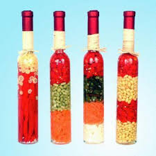 Decorative Vinegar Bottles Vegetables 100inch Vinegar Bottle Filled with Vegetables Ideal for 2