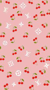 Cute cherry LV Louis Vuitton lockscreen ...