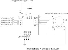 bipolar stepper motor electricalu interfacing diagram interfacing of stepper motor