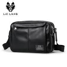 lielang 2018 new shoulder bag men genuine leather cross bags mens leather satchel male small messenger for ipad bag for boy cross purses