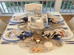 Nautical Table Settings Silver Christmas Centerpieces Nautical Themed Table Setting