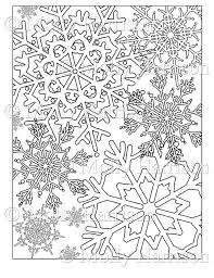 Small Picture Items similar to Snowflake Coloring Page Various Snowflakes