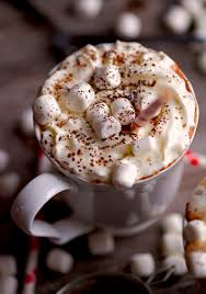 hot chocolate with marshmallows and whipped cream. Wonderful Marshmallows Sipping Hot Chocolate By Deliciouslyyumcom With Marshmallows And Whipped Cream H